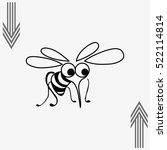 mosquito icon. leech icon. wasp ... | Shutterstock .eps vector #522114814