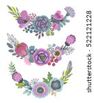 vector graphic set with... | Shutterstock .eps vector #522121228