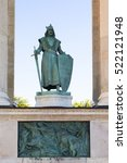 Small photo of Statue of Charles I, also known as Charles Robert (1288 - 1342), King of Hungary and Croatia from 1308 to his death, in Heroes Square or Hosok Tere in Budapest, Hungary.