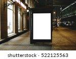 mock up of template bus stop...   Shutterstock . vector #522125563