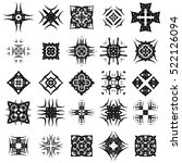 vector set of different tribal... | Shutterstock .eps vector #522126094