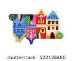 magnetic souvenir with the... | Shutterstock . vector #522128680