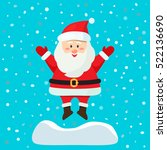 santa claus jumping out of a... | Shutterstock .eps vector #522136690