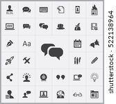 chat icon. blog icons universal ... | Shutterstock .eps vector #522138964