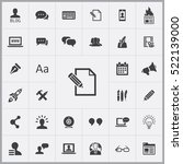 blog icons universal set for... | Shutterstock .eps vector #522139000
