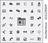 browser icon. blog icons... | Shutterstock .eps vector #522139009