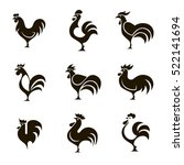 Set Of 9 Vector Black And Whit...
