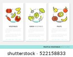fruits and vegetables thin line ... | Shutterstock .eps vector #522158833