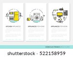 home electronics appliances... | Shutterstock .eps vector #522158959