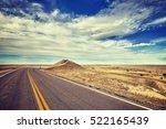 vintage stylized empty road ...   Shutterstock . vector #522165439