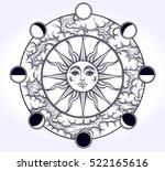 vintage elegant hand draw work... | Shutterstock .eps vector #522165616
