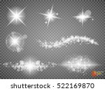 silver glitter bokeh lights and ... | Shutterstock .eps vector #522169870