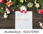 wish card or letter to santa... | Shutterstock . vector #522172900