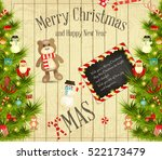 christmas and new year card.... | Shutterstock .eps vector #522173479