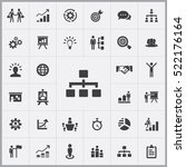 business strategy icons... | Shutterstock .eps vector #522176164
