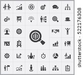 business strategy icons... | Shutterstock .eps vector #522176308