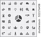 business strategy icons... | Shutterstock .eps vector #522176458