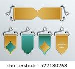 set of colorful belt shape... | Shutterstock .eps vector #522180268