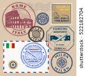 travel stamps or symbols set ... | Shutterstock .eps vector #522182704