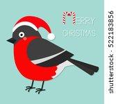bullfinch winter red feather... | Shutterstock . vector #522183856