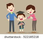parents standing proud and... | Shutterstock .eps vector #522185218