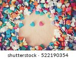 heap of colorful candies... | Shutterstock . vector #522190354