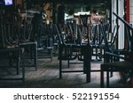 chairs and tables stacked in a... | Shutterstock . vector #522191554
