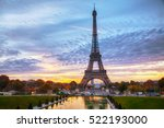 cityscape with the eiffel tower ... | Shutterstock . vector #522193000