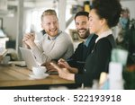 business colleagues working... | Shutterstock . vector #522193918