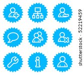 users web icons  blue sticker... | Shutterstock .eps vector #52219459