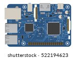 diy electronic mega board with... | Shutterstock .eps vector #522194623
