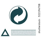 vector recycling sign   Shutterstock .eps vector #522196708