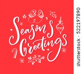 season's greeting text with... | Shutterstock .eps vector #522197890