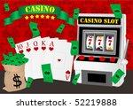 gambling illustration with...   Shutterstock .eps vector #52219888