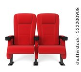 cinema chair. 3d illustration... | Shutterstock . vector #522200908