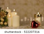 greeting card with christmas... | Shutterstock . vector #522207316