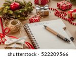 wish list among presents | Shutterstock . vector #522209566
