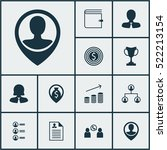 set of 12 management icons. can ...