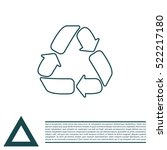 recycle sign isolated  line icon | Shutterstock .eps vector #522217180