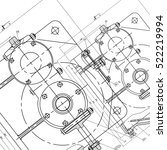 mechanical engineering drawing. ... | Shutterstock .eps vector #522219994
