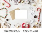 stylish branding mockup to... | Shutterstock . vector #522221233