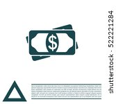 flat icon of money vector icon | Shutterstock .eps vector #522221284