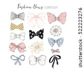 beautiful graphic bows... | Shutterstock .eps vector #522223276