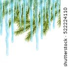 realistic christmas background... | Shutterstock .eps vector #522224110