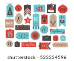 abstract printable tags...   Shutterstock .eps vector #522224596
