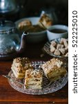 traditional russian homemade... | Shutterstock . vector #522225010
