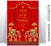 indian wedding card. | Shutterstock .eps vector #522226276