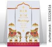 indian wedding card. | Shutterstock .eps vector #522226516