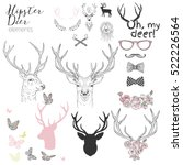 Hipster Deer Elements Set For...