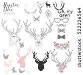 Hipster Deer Elements Set For...